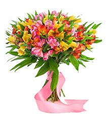 Оригинальные букеты с живых цветов 29