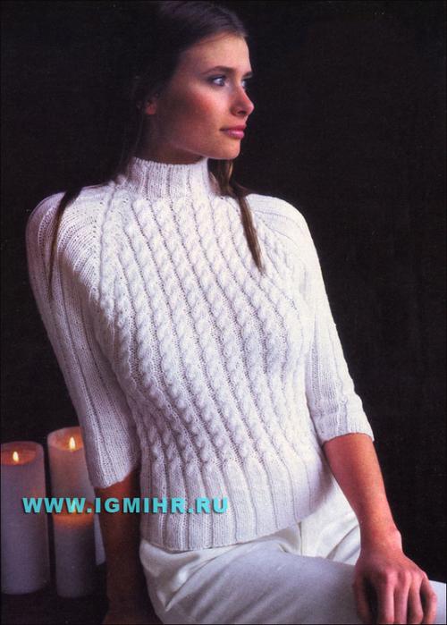 Связать мужской пуловер схема фото 905