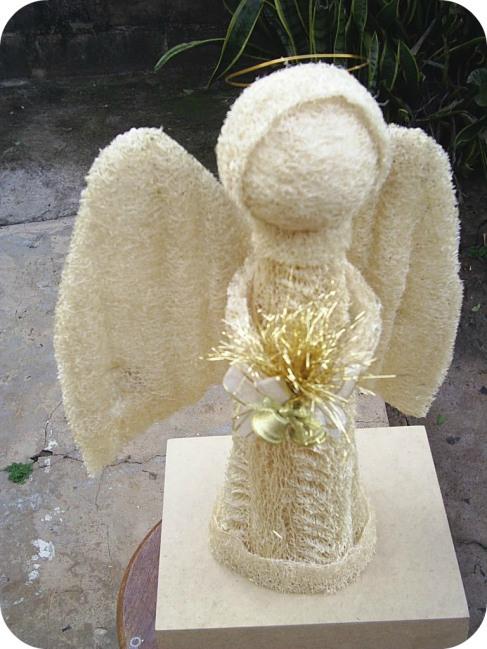 куклы ангелы из мочалки, люфы, своими руками. Мастер класс