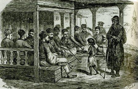 О. Раффе.Татарская кофейня в Байдарах. 1837 г