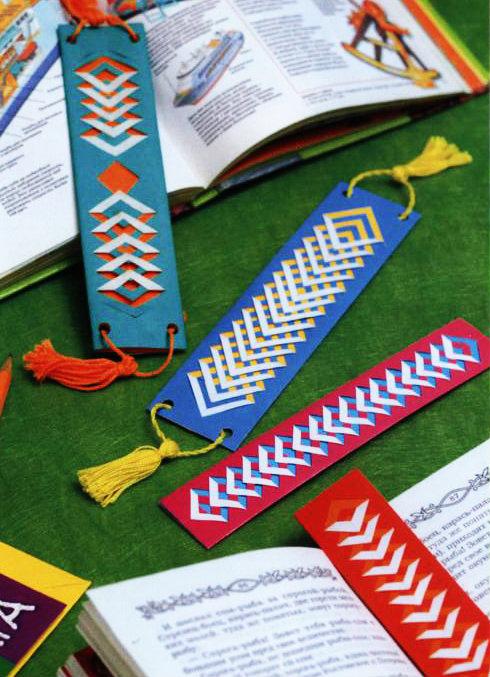 Плетение закладки в книги