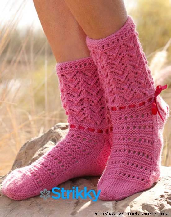 уроки вязания ажурных носков