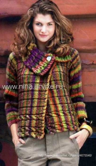 Вязание для полных. Жакет для пышных дам спицами Knitting 1