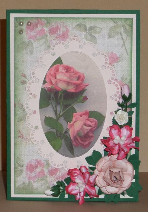 Открытки с розами ручной работы фото, открытка