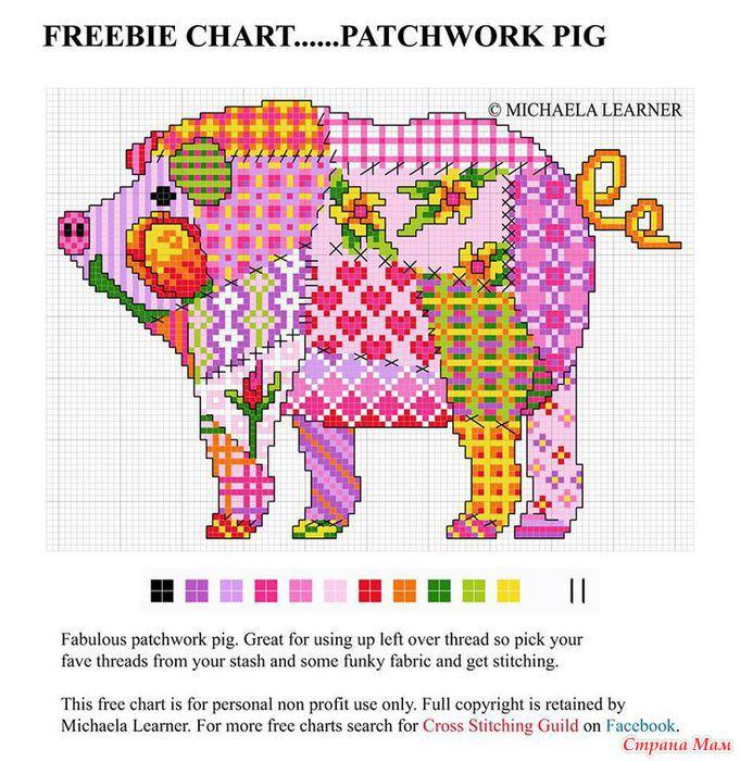 бесплатно пэчворк вышивка в стиле крестом схемы