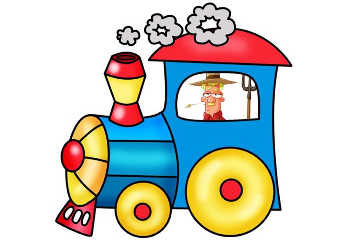 Веселые картинки паровозика с вагончиками