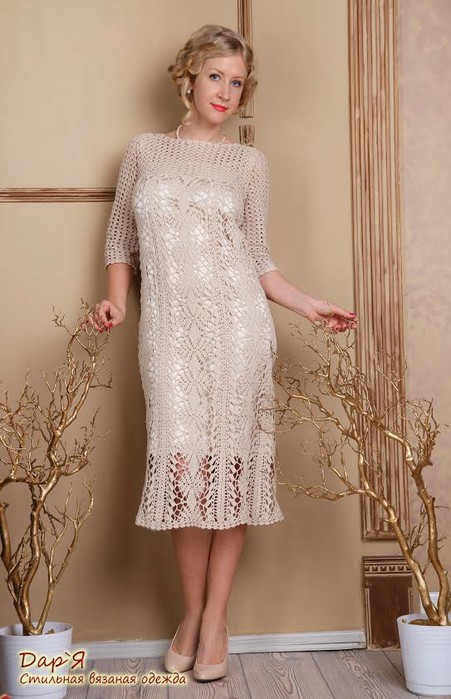 Crocheted-dress-Pearl-by-Darya-Krupnodiorova-in-full-height (451x700, 259Kb)