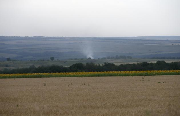 previous Smoke rises from the site of a Malaysia Airlines Boeing 777 plane crash (630x408, 21Kb)