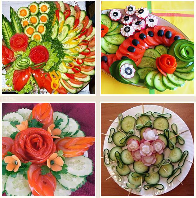 красивая овощная нарезка фото