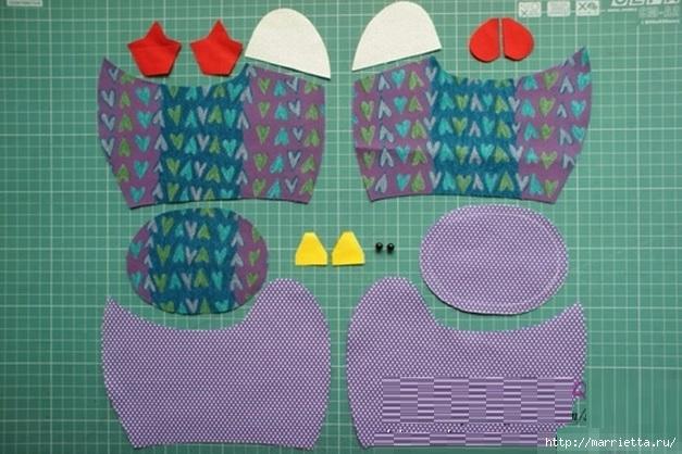 Шьем пасхальные салфетки мастер класс инструкция #9