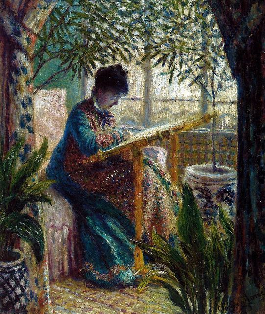 Claude Monet  Madame Monet Embroidering, 1875 (541x640, 117Kb)
