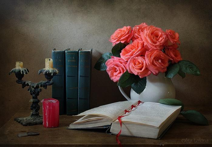 Красивые новым, открытка с днем учителя цветы на книге