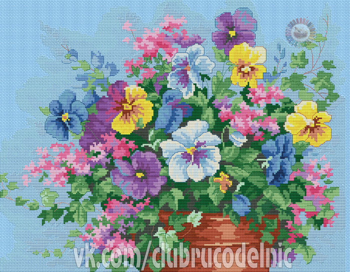 Pansy Profusion (700x544, 703Kb)