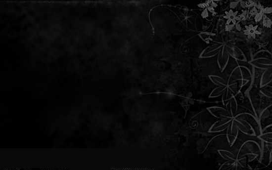 Чёрные цветы.