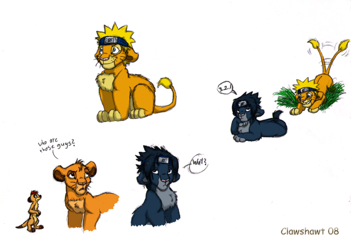 Clawshawt  Naruto and King Lion                                         Naruto And Sasuke Friends Forever