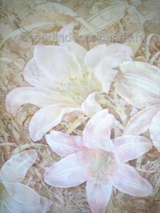 Декоративная штукатурка цветы 9