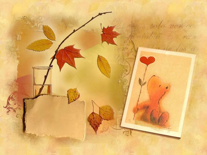 Новым годом, приложение открытки осень