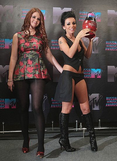 Беркова на премии на mtv russia music awards 2008