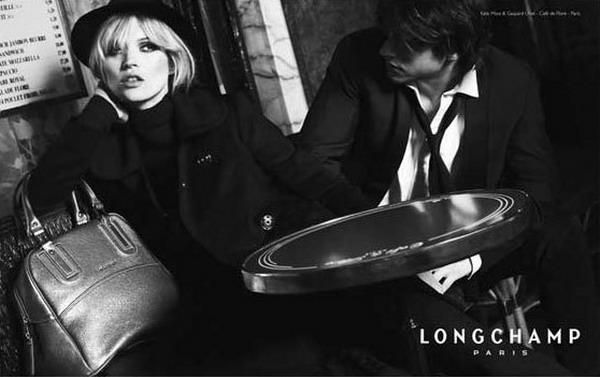 Кейт Мосс и Гаспар Улльель в Longchamp.