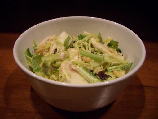 рецепты из тыквы с мясом: салат коктейль.