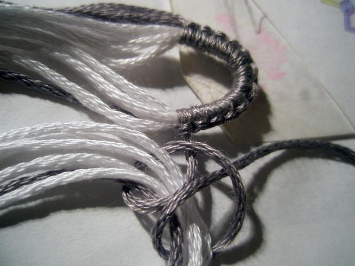 ...я плету обычно всем мотком *) я делаю первый ряд, причем первый...