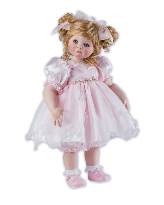 Открытка с куклой для девочки