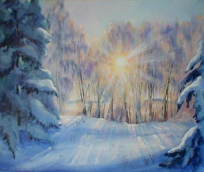 зимнее утро пушкин анимация отличие ниток