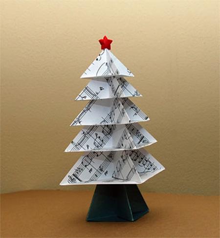 Оповещать о новых комментариях по почте.  Елка-оригами из нот. e-mail...