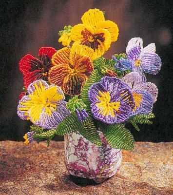 Бисер.  Схемы плетения цветов и деревьев.  11 май 2012 .