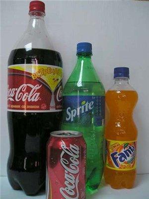Меню:Газированные напитки большые 64 маленькие 30.