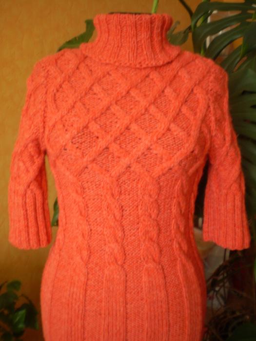 Вязаное платье.  В свой цитатник или сообщество! рыбка4Комментарии