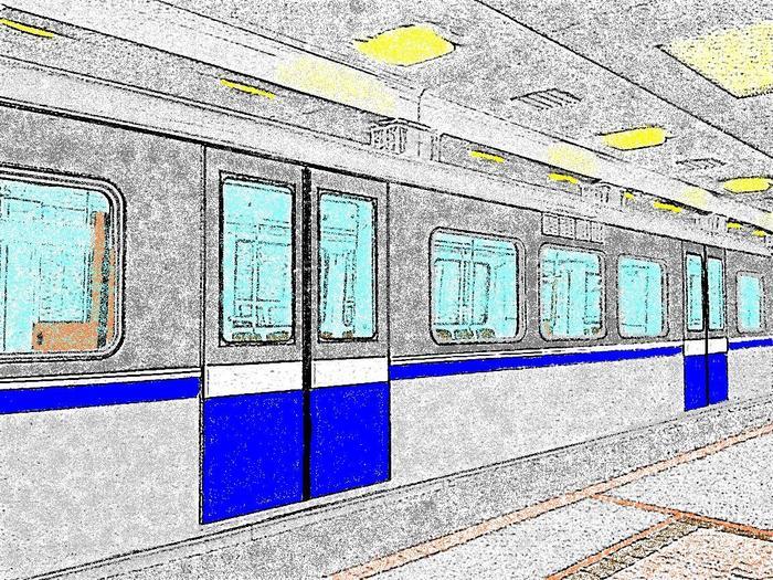 Картинка вагон метро для детей