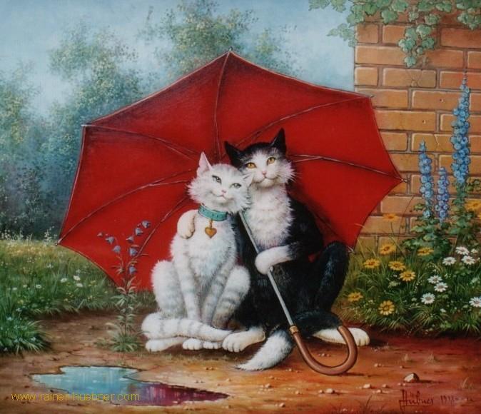 картинка с кошкой на хорошей погоде стиле хай-тек