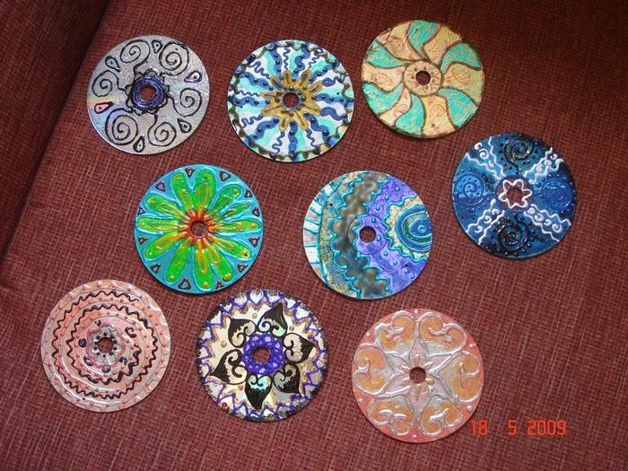 Новогодние украшения из cd дисков - Самоделки