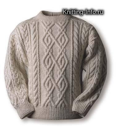 quot; Вязание спицами : Мужской свитер. схемы вязания мужских свитеров...