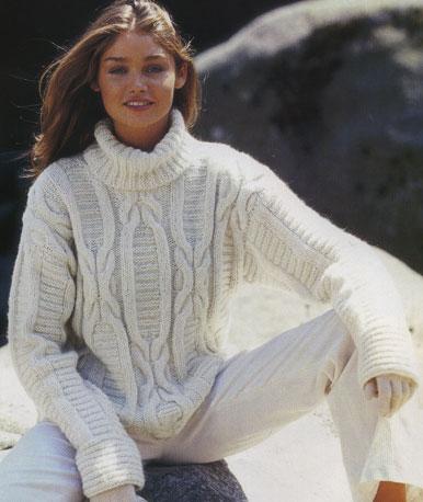 вязание спицами модели свитера с косами. красивые вязанные спицами...