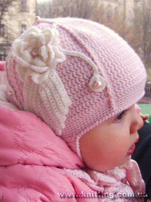 шапка для девочки вязание Вязание для. шапка для девочки вязание.