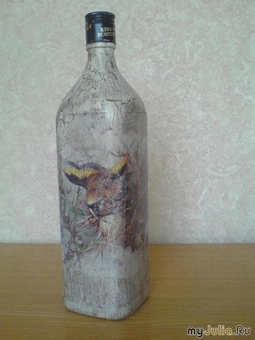 Мастер-класс по декупажу на бутылке http...