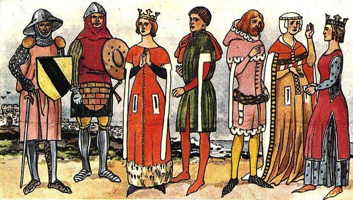 женский средневековый костюм пошить выкройки.