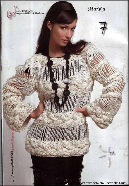 Оригинальное вязание спицами.  Автор:Admin.