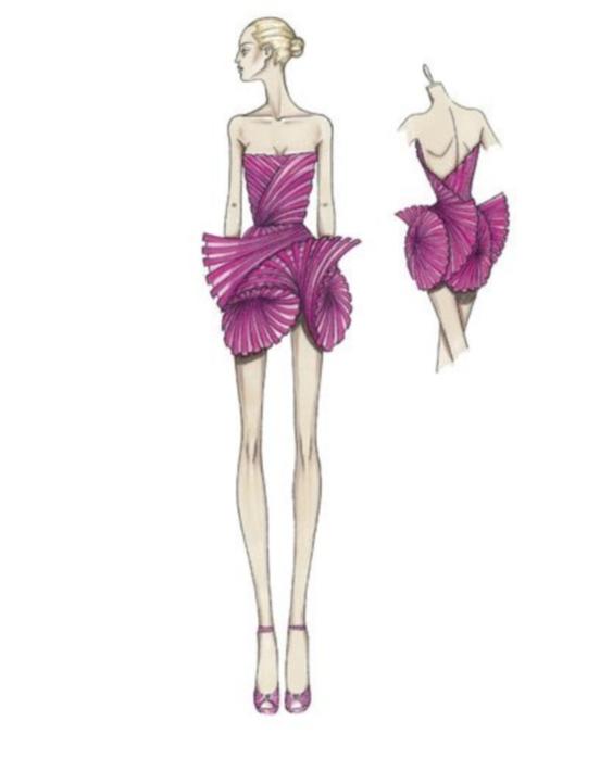 как рисовать эскизы коллекции одежды.