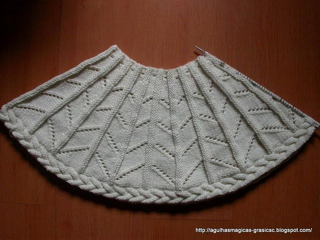 Варианты вязания манишки-шарфа.