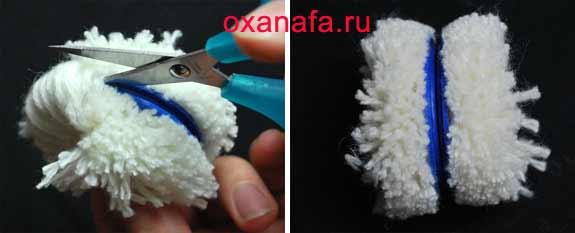 рукоделие.  Мягкая игрушка из помпонов - гусеница.  Оксана.  Автор.