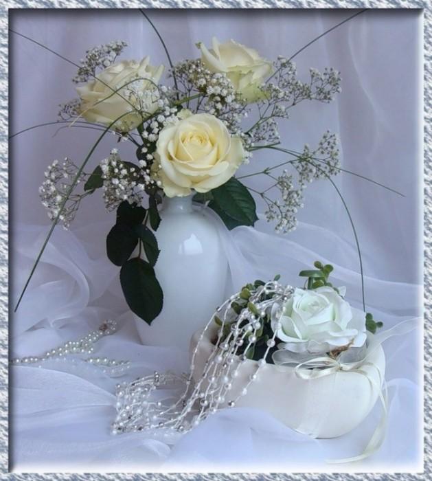 Открытка гиф белые розы, анимации прикольные