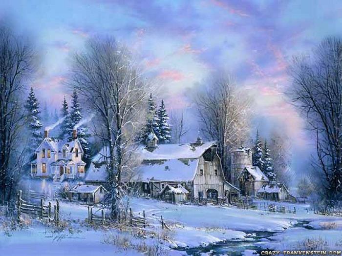 Времена года Зима - Природа Обои и Фото.