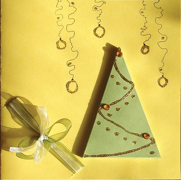 простые новогодние открытки бери и делай коллектив