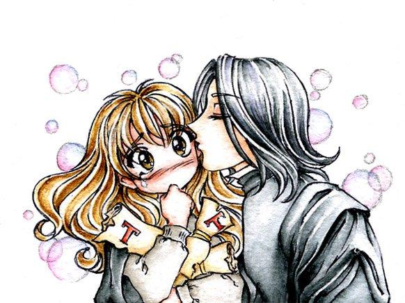 Днем рождения, картинки девушка целует парня в щеку рисованные