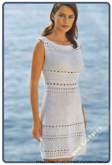Ажурные вязаные платья - фото платья.  Платье вязаное крючком.  Ажурный.