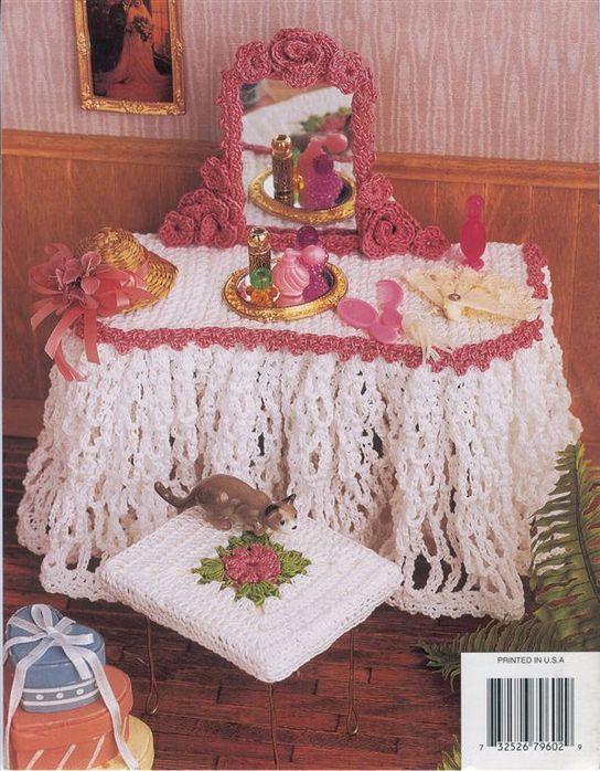 Вязанная мебель для куклы описание и схемы 4