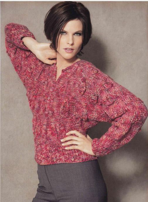 свитер с рукавом летучая мышь схемы и идеи вязание спицами